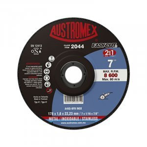 Disco de corte 7″ metal y aceros inoxidable EASY CUT #2044 AUSTROMEX